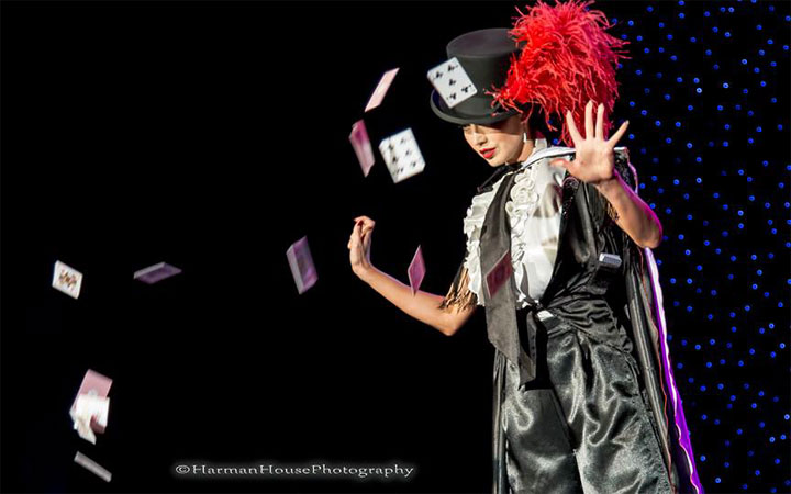 Madame Romanova competing for Best Debut at the Burlesque Hall of Fame Weekend 2014 Tournament of Tease.  ©Chris Harman/Harman House Photography