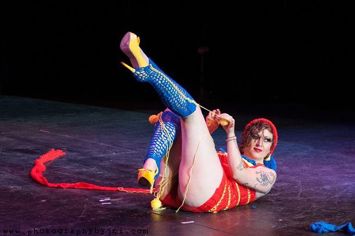 Surlie Temple at the Show Me Burlesque Festival 2014.  ©JMI Photo