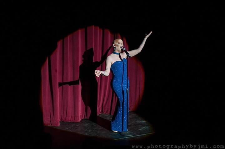Victoria DeVille at the Show Me Burlesque Festival 2014.  ©JMI Photo