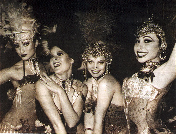 Angie Pontani (right) in Dutch Weismann's Follies in the mid-nineties.  ©