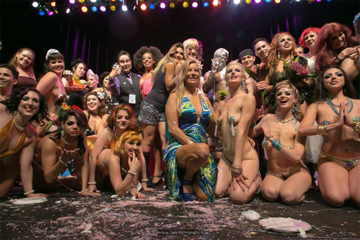 Curtain call at the Colorado Burlesque Festival 2013.  ©Broken Glass Photography