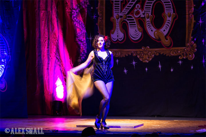 Josephine Shaker at the Kinky & Quirky Burlesque Ball on July 5th 2014, Devon, UK.  ©Alex Small