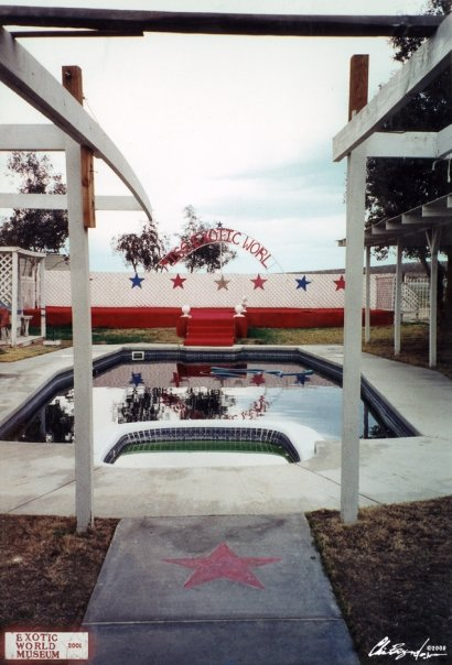 The pool and stage at the Miss Exotic World ranch in Helendale, California. ©Chris Beyond Photography