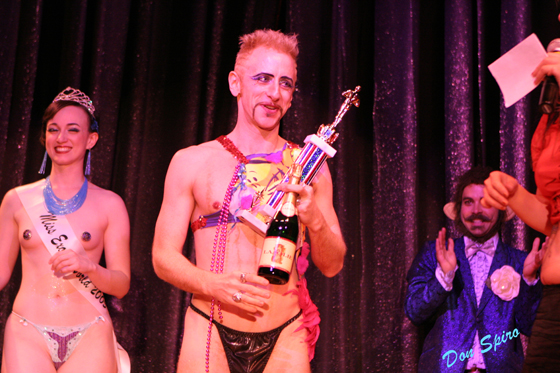 Tigger! as the first winner of 'Best Boylesque' in the 2006 Miss Exotic World pageant at the Burlesque Hall of Fame Weekend. ©Don Spiro