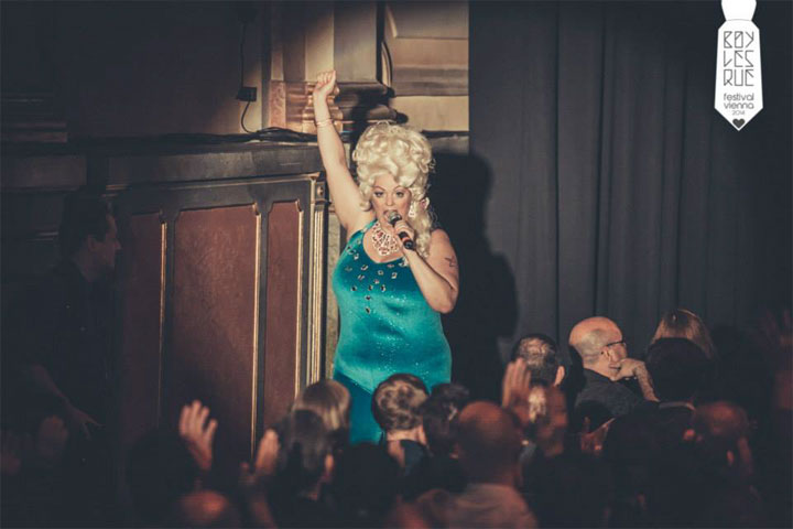 World Famous *BOB* at the Vienna Boylesque Festival 2014. ©Philipp Lipiarski