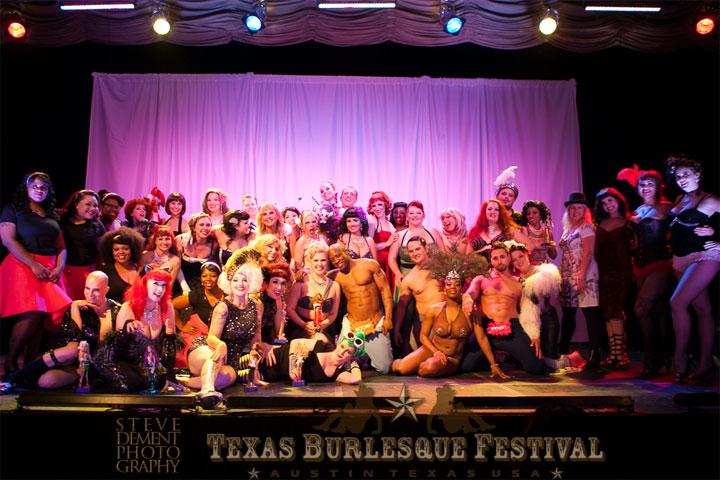 The cast of the Texas Burlesque Festival 2014. ©Steve DeMent Photography