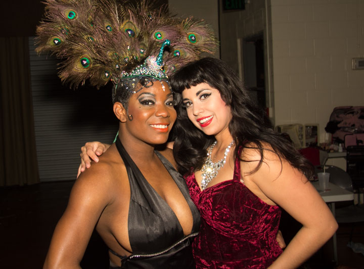 Headliners Perle Noire and Coco Lectric at the Texas Burlesque Festival 2014. ©POC Photo
