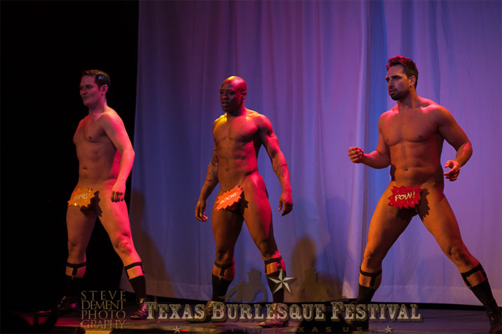 The Stage Door Johnnies at the Texas Burlesque Festival 2014. ©Steve DeMent Photography