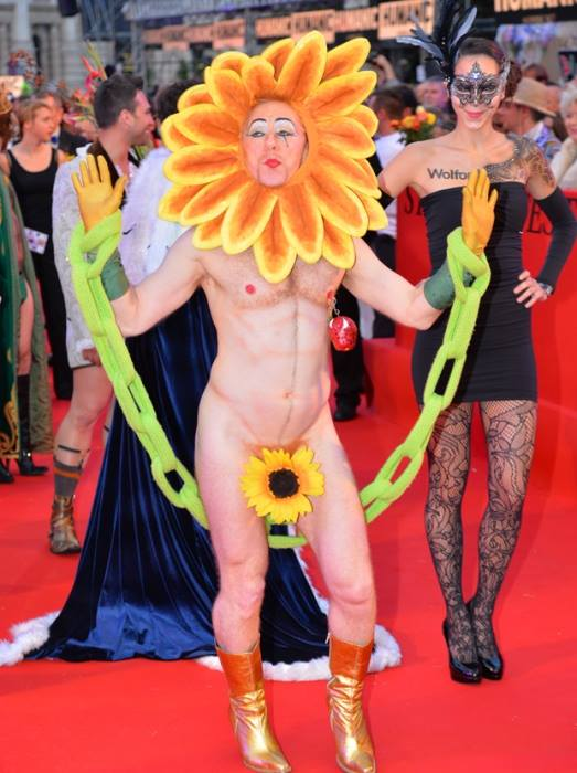 Tigger! on the Life Ball red carpet.  Credit Pending.