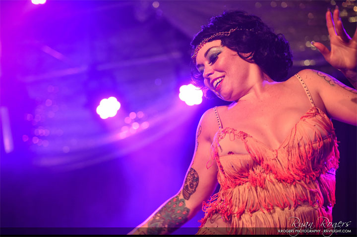 Bunny Pistol at the Oregon Burlesque Festival.  ©Ryan Rogers