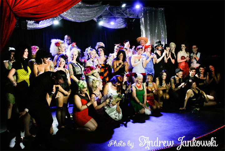 The Saturday Night cast at the Oregon Burlesque Festival. ©Andrew Jankowski