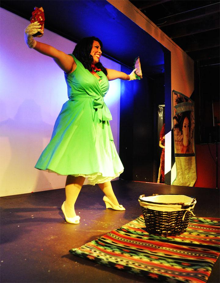Ruby Rounds at the Oregon Burlesque Festival. ©Sophia Flash