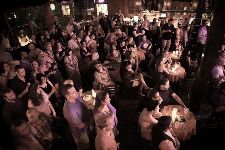 Friday night at Dante's Inferno, Oregon Burlesque Festival. ©Lydia DeCarllo