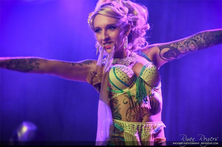 Valerie Veils at the Oregon Burlesque Festival.  ©Ryan Rogers