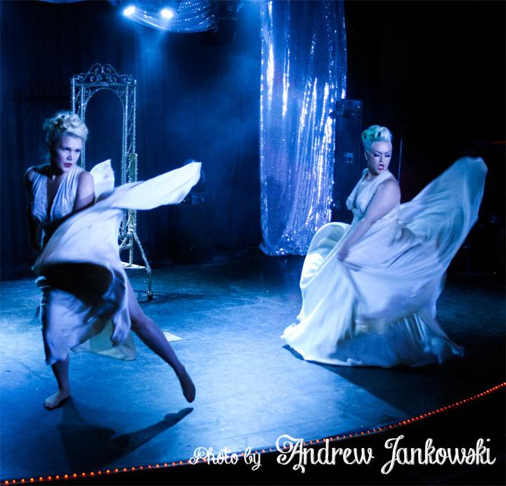 Villainy Loveless and Ruthe Ordare at the Oregon Burlesque Festival.  ©Andrew Jankowski