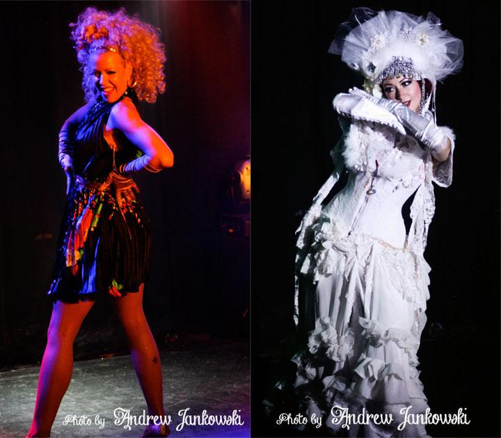 Angelique DeVil (left) and Nani Poonani (right) at the Oregon Burlesque Festival.  ©Andrew Jankowski