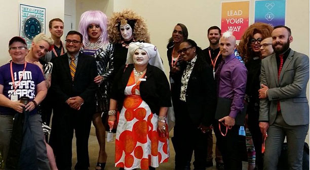 The assembled group of drag queens, performers and representatives invited to a meeting with Facebook to discuss the Real Names Policy.  ©CP (Facebook Real Name Policy: A Front Line Battle Report)