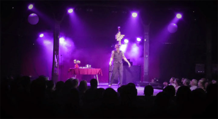 Mat Ricardo in Another Fucking Variety Show at London Wonderground 2014.  Courtesy of Mat Ricardo