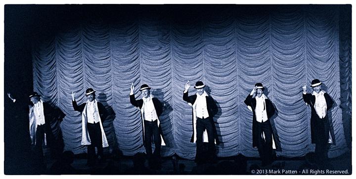 Opening night of Soir de Gala in the late 1970s - male dancers. ©Mark Patten