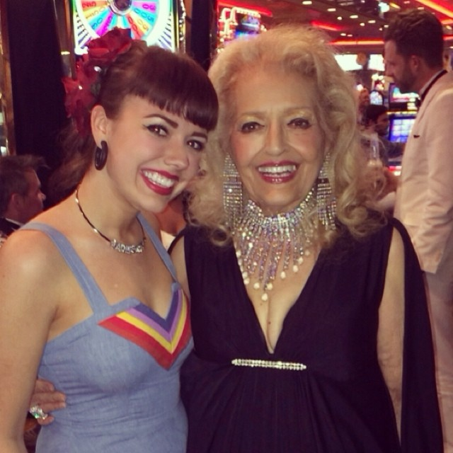 Adele Wolf and April March at Burlesque Hall of Fame Weekend 2014.
