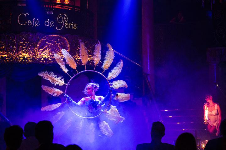 Anna the Hulagan in Cabaret des Distractions at Cafe de Paris.  ©Al Veryard