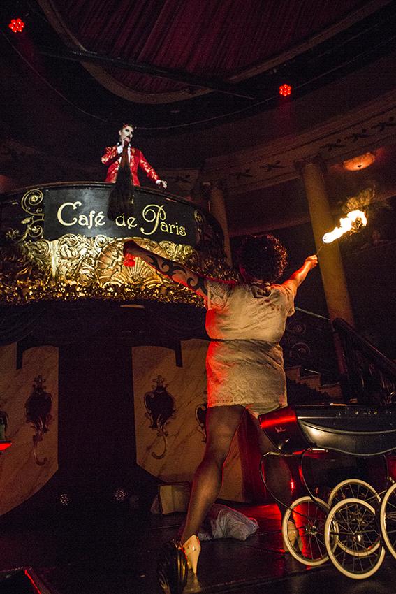 Reuben Kaye and Chrisalys in Cabaret des Distractions at Cafe de Paris.  ©Al Veryard