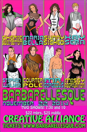 Barbarellesque in Baltimore November 22nd, 2014.
