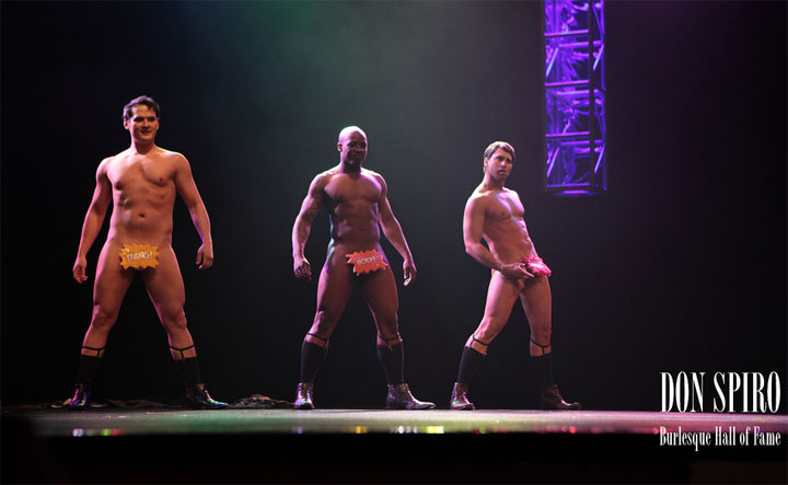 The Stage Door Johnnies performing their Best Troupe winning routine at The Burlesque Hall of Fame Weekend 2011. ©Don Spiro