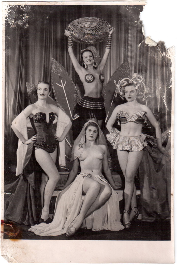 A photo from the old Helsinki cabaret theatre shown in The History of Burlesque in Finland lecture. (Bettie Blackheart's BurlyCon 2014 Diary)
