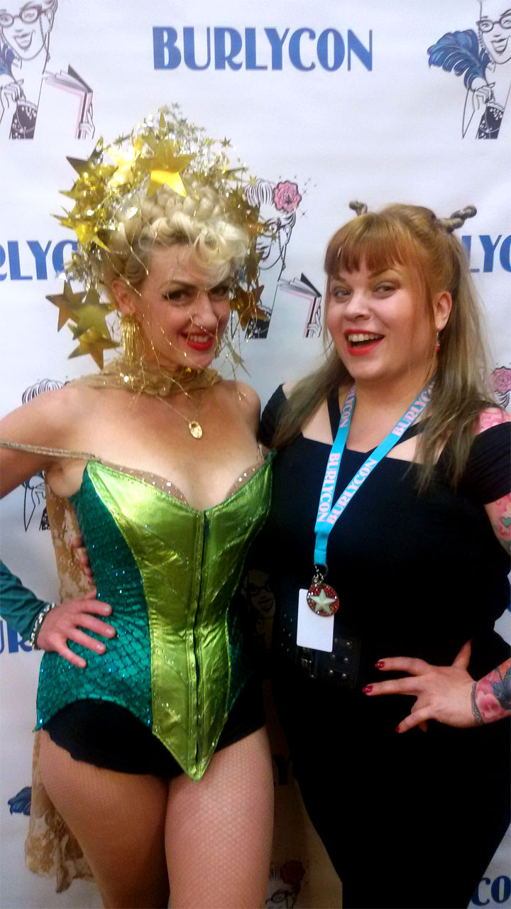 Kitten De Ville and Bettie Blackheart at BurlyCon 2014. (Bettie Blackheart's BurlyCon 2014 Diary)