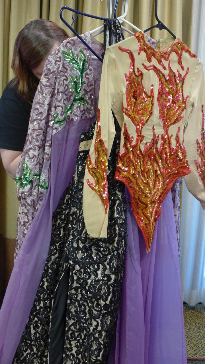 Bic Carol's costumes. (Bettie Blackheart's BurlyCon 2014 Diary)