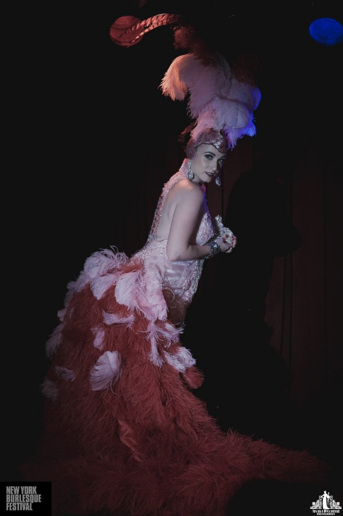 Michelle L'amour at the New York Burlesque Festival 2014.  ©Angela McConnell