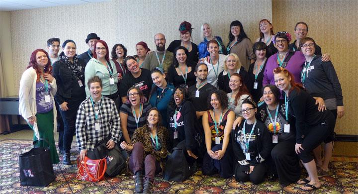 The Festival Production students.  ©Bettie Blackheart (Bettie Blackheart's BurlyCon 2014 Diary)