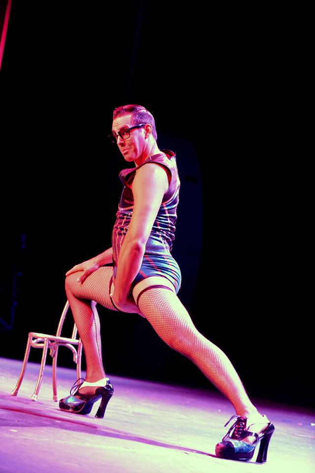 Mr Gorgeous at the Colorado Burlesque Festival 2014.  ©Trout Imagery