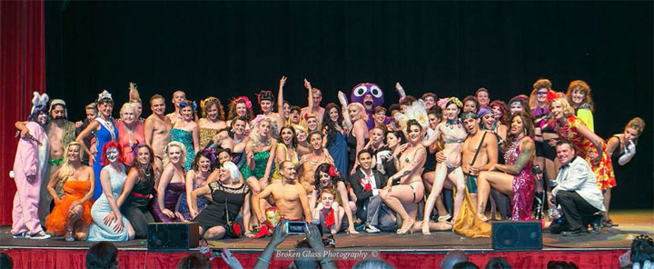 The Saturday Night cast of the Colorado Burlesque Festival 2014.  ©Broken Glass Photography