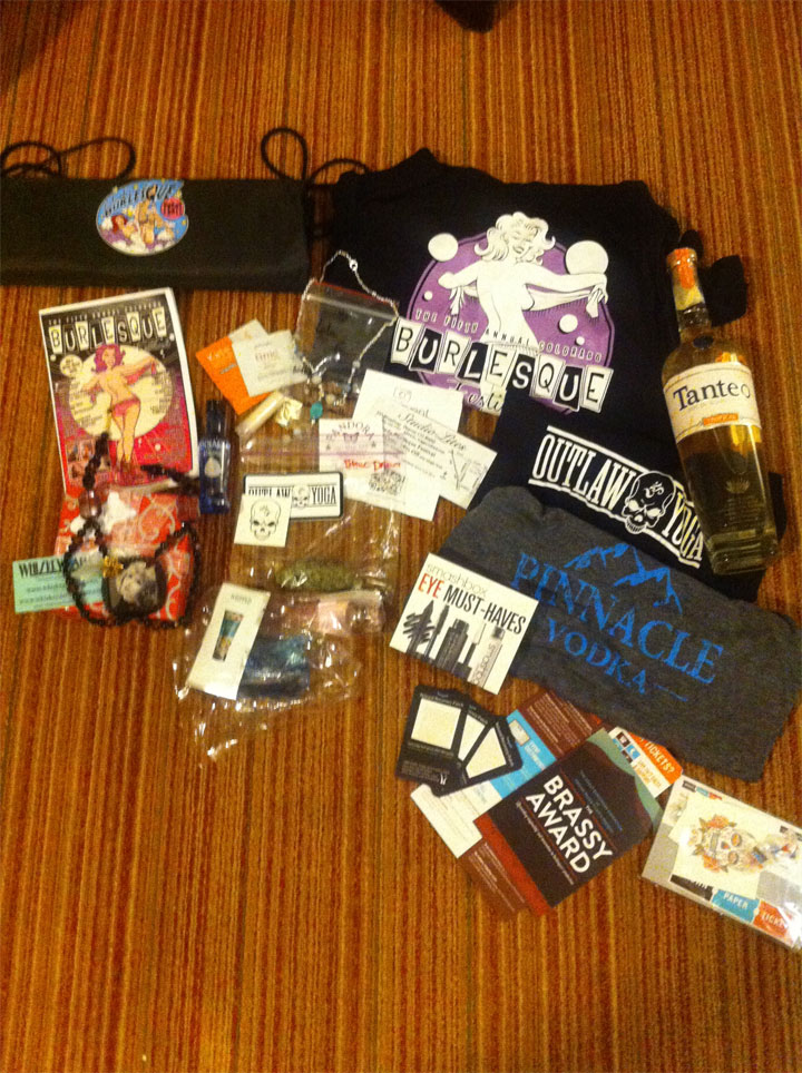 Goodie Bag goodness. ©Lola Frost  (Lola Frost's Colorado Burlesque Festival Diary)