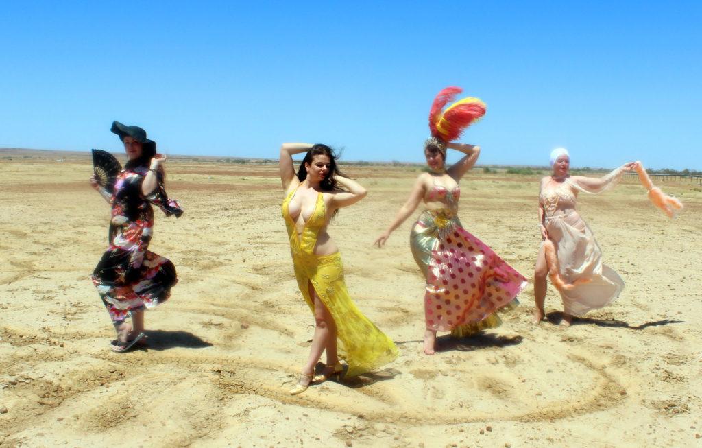 Lola the Vamp, Sarina Del Fuego, Dolores Daiquiri and Kerry X in Betoota. ©Tim Gratton