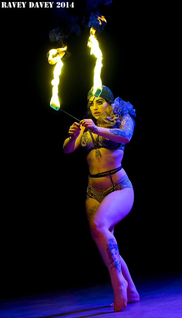 Aurora Galore at the Hebden Bridge Burlesque Festival 2014. ©Ravey Davey