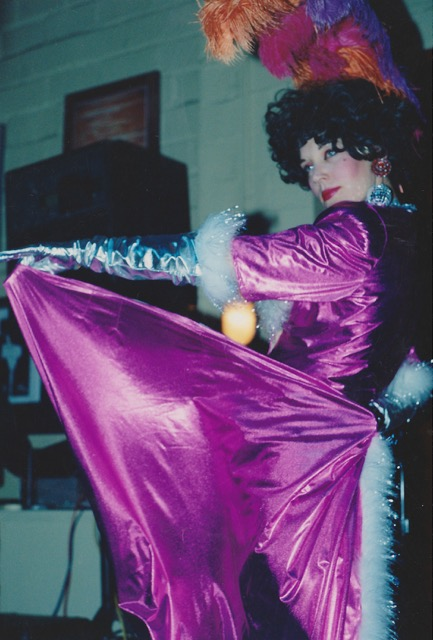 Paula Sjunneson's first burlesque performance in 1991.