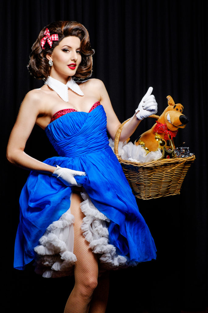 Sina King - competing for Miss Exotic World at the Burlesque Hall of Fame Weekend 2015