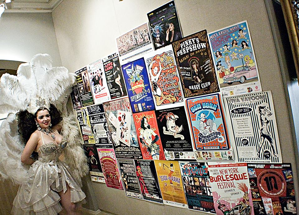 Amber Ray at the 'More on Less: The History of Burlesque in America From Lydia Thompson to Amber Ray' exhibition. ©Richard Boss Perez