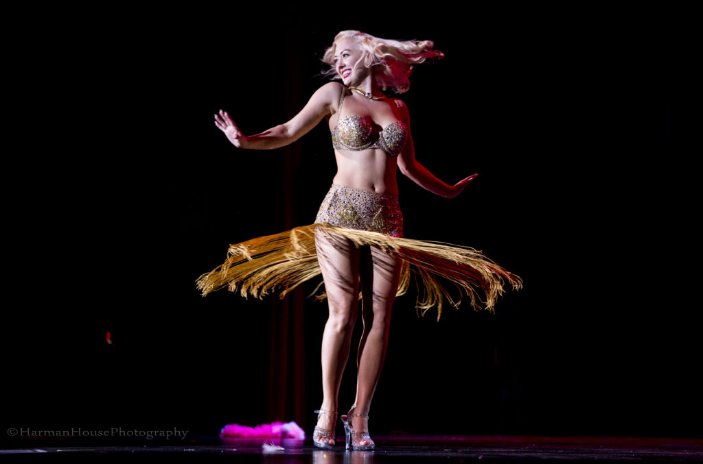 Missy Lisa in the Movers, Shakers and Innovators showcase at the Burlesque Hall of Fame Weekend Tournament of Tease in The Orleans Showroom, Las Vegas. ©Chris Harman/Harman House Photography for 21st Century Burlesque Magazine. Not to be used without permission.