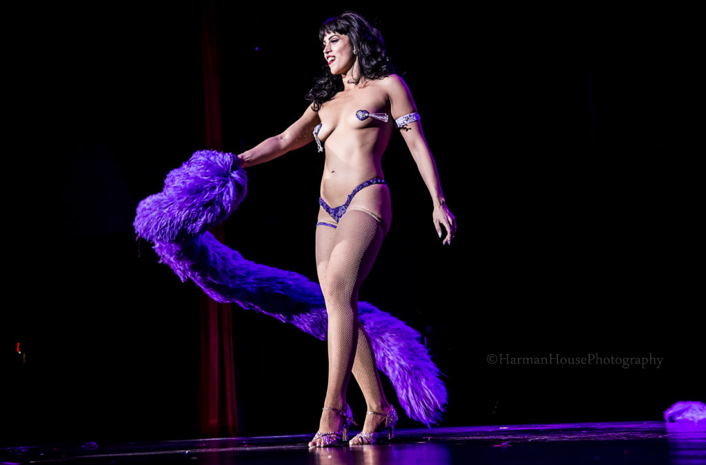 Ginger Valentine At The Burlesque Hall Of Fame Weekend Tournament Of Tease  In The Orleans Showroom