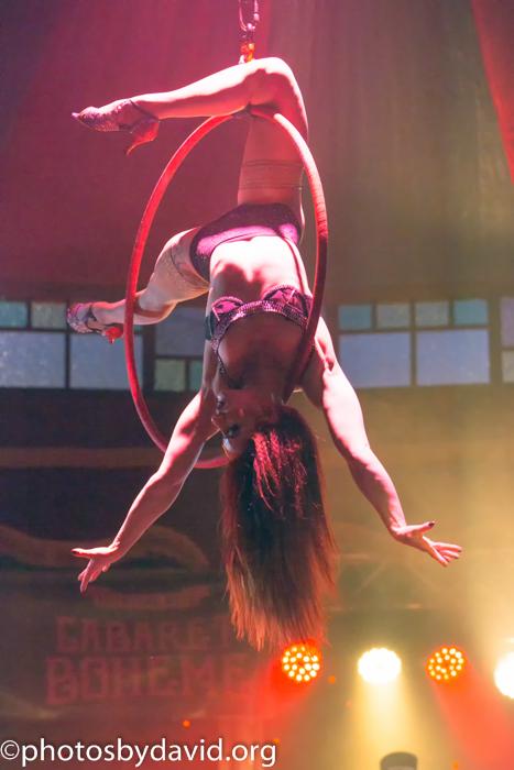 Sasha Flexy in Cabaret Boheme, Brighton Fringe 2015.  ©David Smith