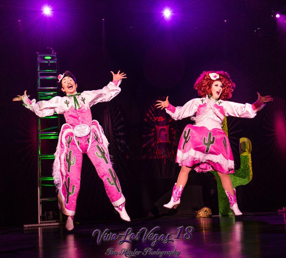 Kitten LaRue and Lou Henry Hoover at the Viva Las Vegas 2015 burlesque showcase.  ©Tim Hunter