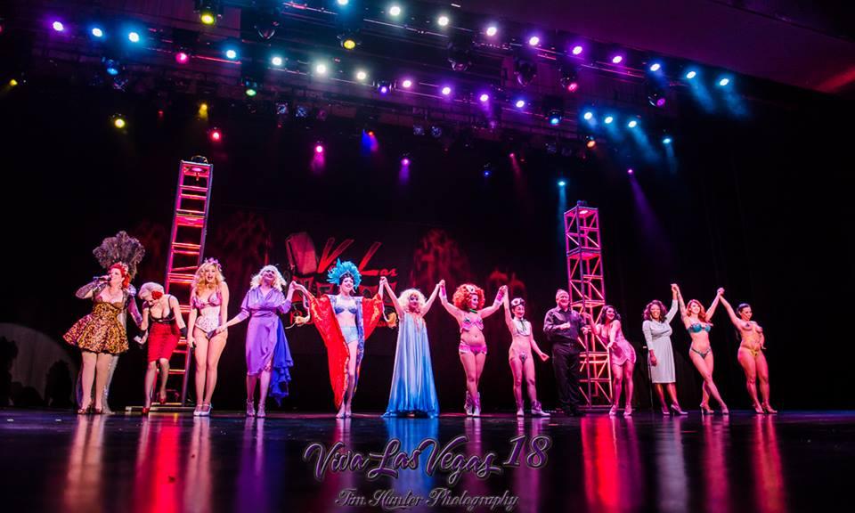Curtain call at the Viva Las Vegas 2015 burlesque showcase.  ©Tim Hunter