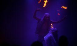 Heavy Metal Pete and Snake Fervor in The Double R Club at London Wonderground 2015. ©Sin Bozkurt