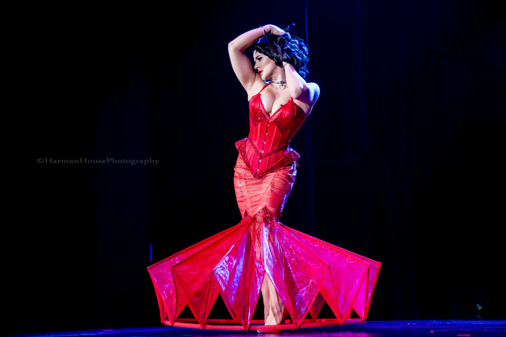 Roxi D'Lite at the Burlesque Hall of Fame Weekend Tournament of Tease in The Orleans Showroom, Las Vegas. ©Chris Harman/Harman House Photography for 21st Century Burlesque Magazine. Not to be used without permission.