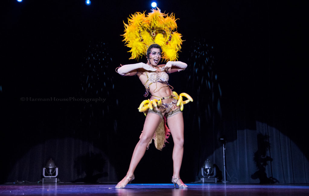 Zelia Rose at the Burlesque Hall of Fame Weekend Tournament of Tease in The Orleans Showroom, Las Vegas. ©Chris Harman/Harman House Photography for 21st Century Burlesque Magazine. Not to be used without permission.-
