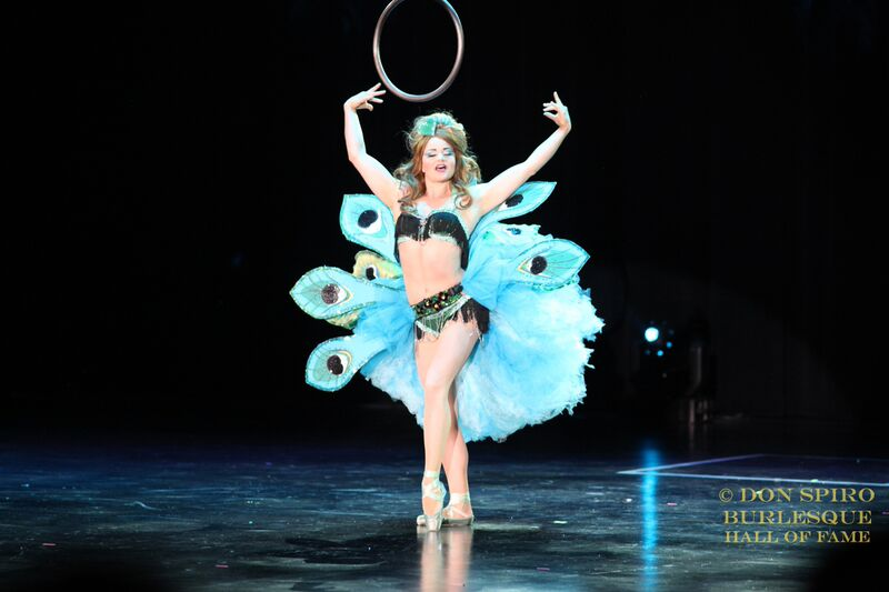 Tova de Luna at the Burlesque Hall of Fame Weekend Tournament of Tease in The Orleans Showroom, Las Vegas. ©Don Spiro